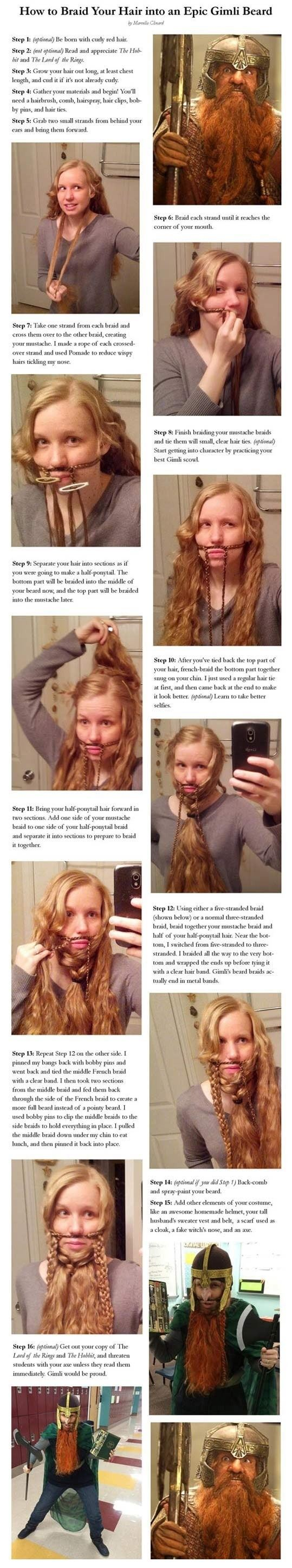 How To Easily Turn Your Hair Into An Epic Beard