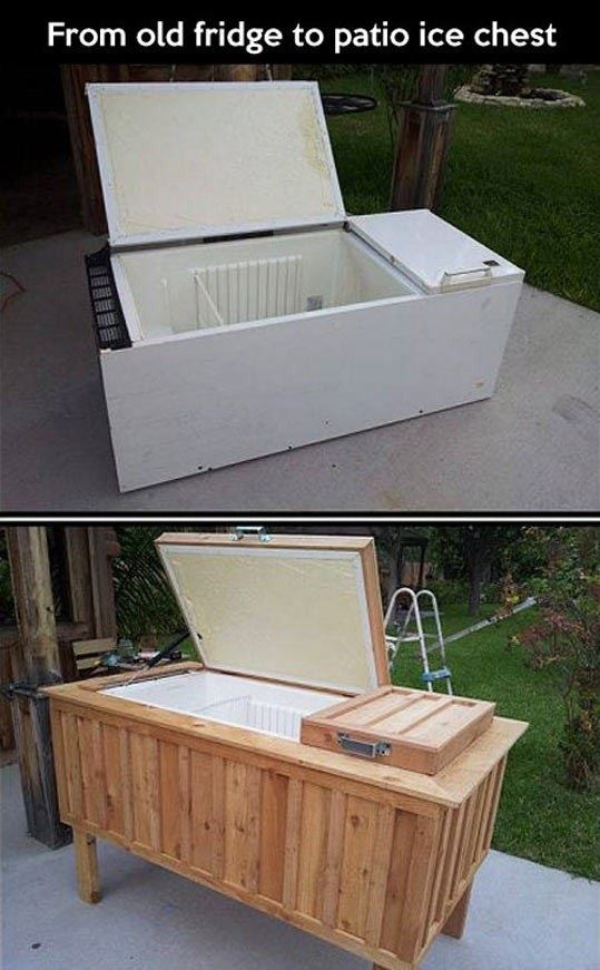 How To Make A Cheap Patio Ice Chest