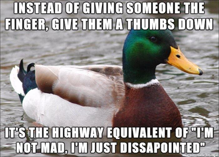 Nicer way to flip someone off