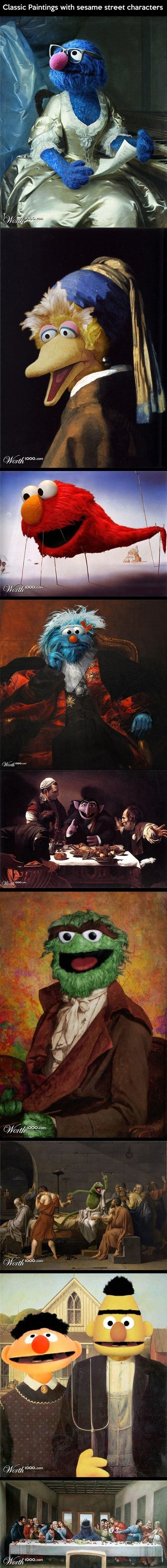 Sesame Street Classic Paintings
