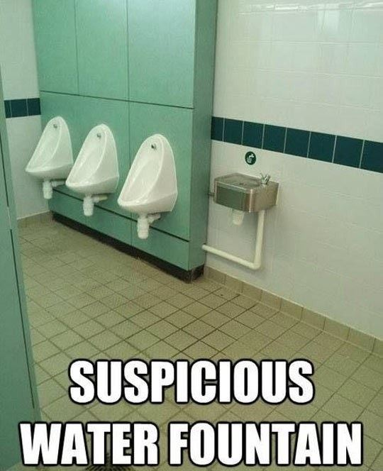 Suspicious water fountain