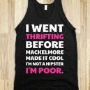 Thirft shopping