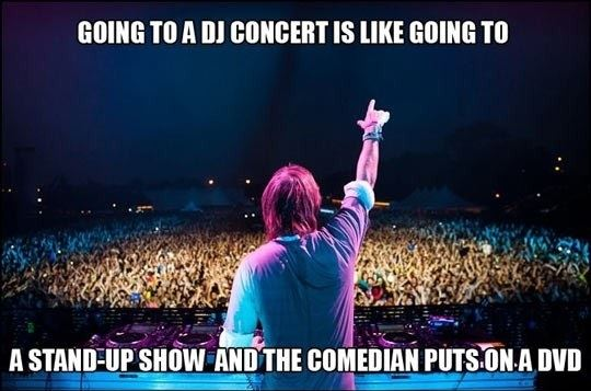 Going to a DJ Concert