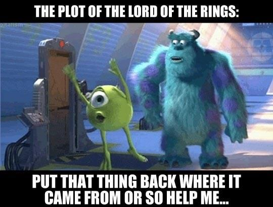 Lord Of The Rings Summed Up In A Few Words