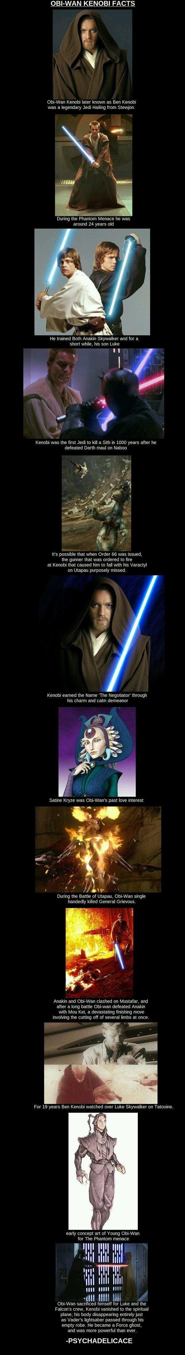 Obi Wan Kenobi Facts