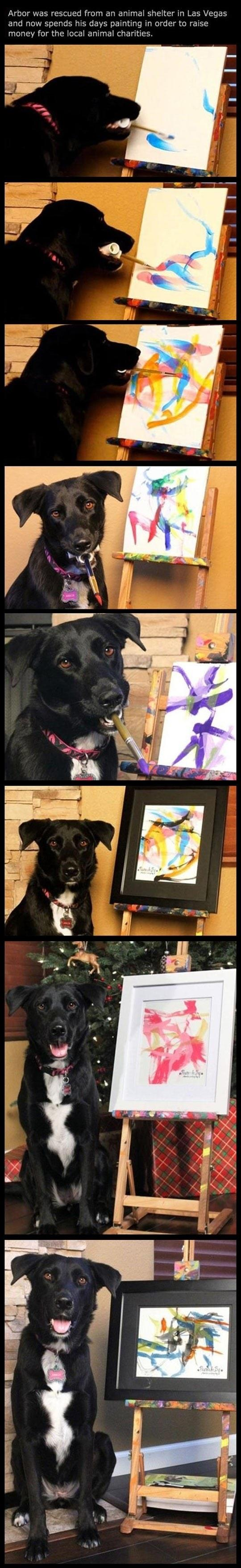 The Clever Dog That Can Paint