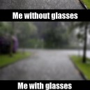 The life with glasses