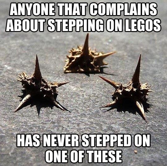 Things worse than Lego!