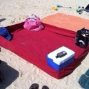 Using a fitted sheet at he beach