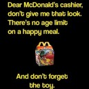 When ordering Happy Meal
