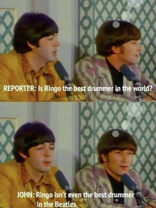 Poor Ringo Star