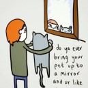 Your pet in the mirror