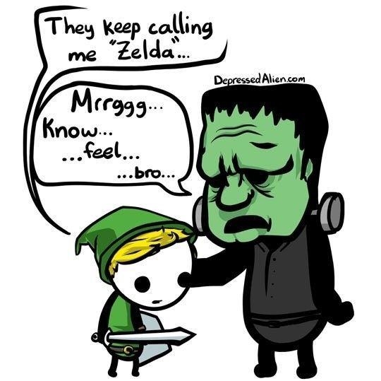 Zelda And Frankenstein Understand Each Other