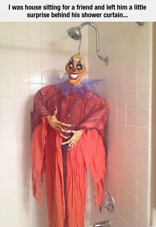 Bathroom Clown Prank