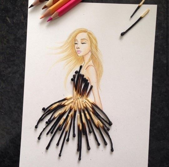 Burnt Matchstick Dress