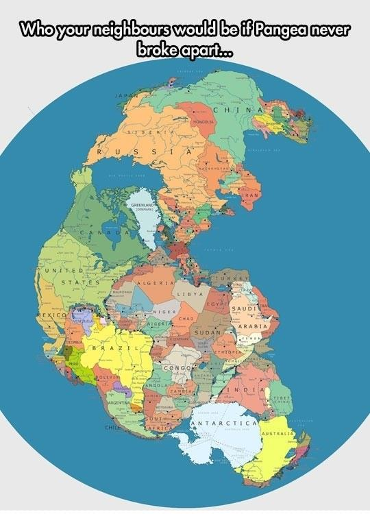 If Pangea never broke apart