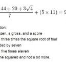 Math translated
