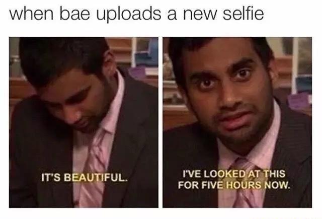 New selfie from bae