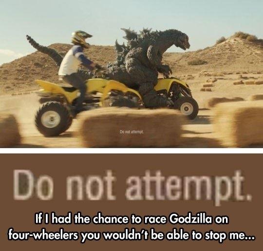 Racing Godzilla