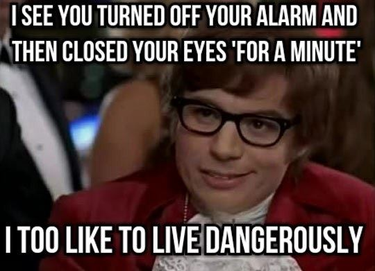 Turning off the alarm