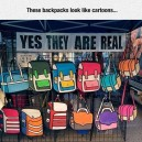 Awesome cartoon backpacks