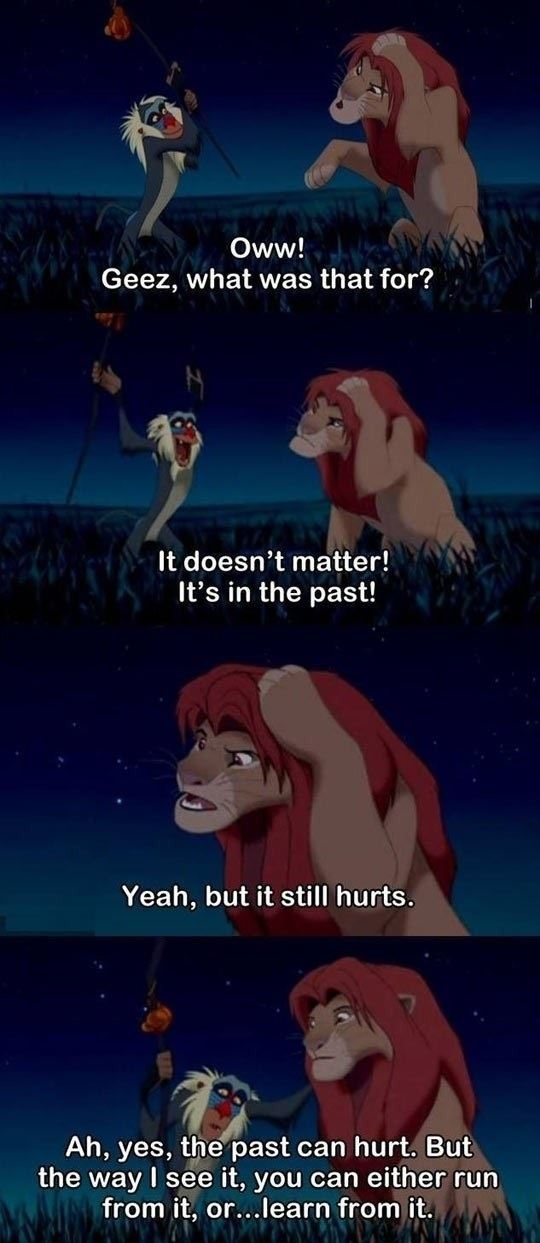 Wise words from the Lion King