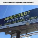 An actual billboard in Florida