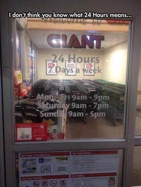 I Don't Think You Know What 24 Hours Means…