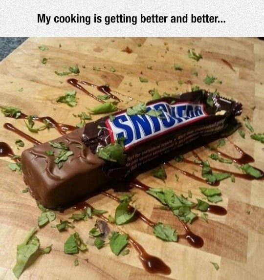 My cooking improves