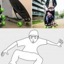 Skateboard with baby stroller