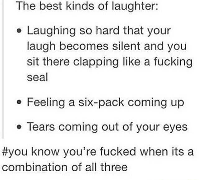 The best kind of laughter