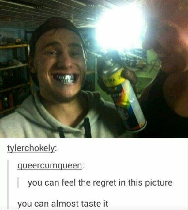 Feel the regret