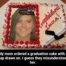 Failed graduation cake
