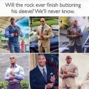 The Rock have trouble with his sleeve
