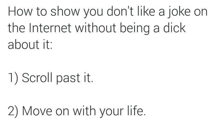 What to do if you don't like something on the Internet