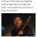 It is all up to the teacher