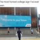 Honest College ad