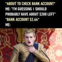 Checking my bank account