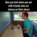Eating with friends nowadays