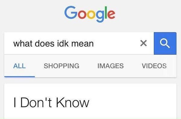 Google doesn't know everything