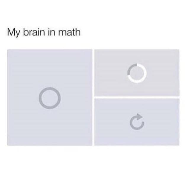My brain in math