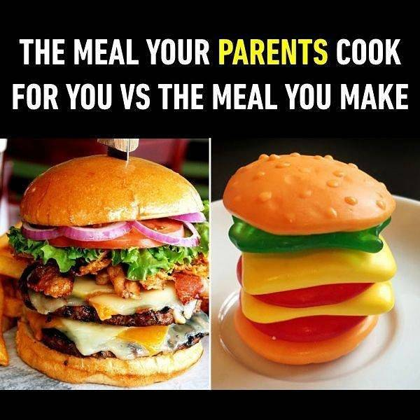 My mother's cook vs mine