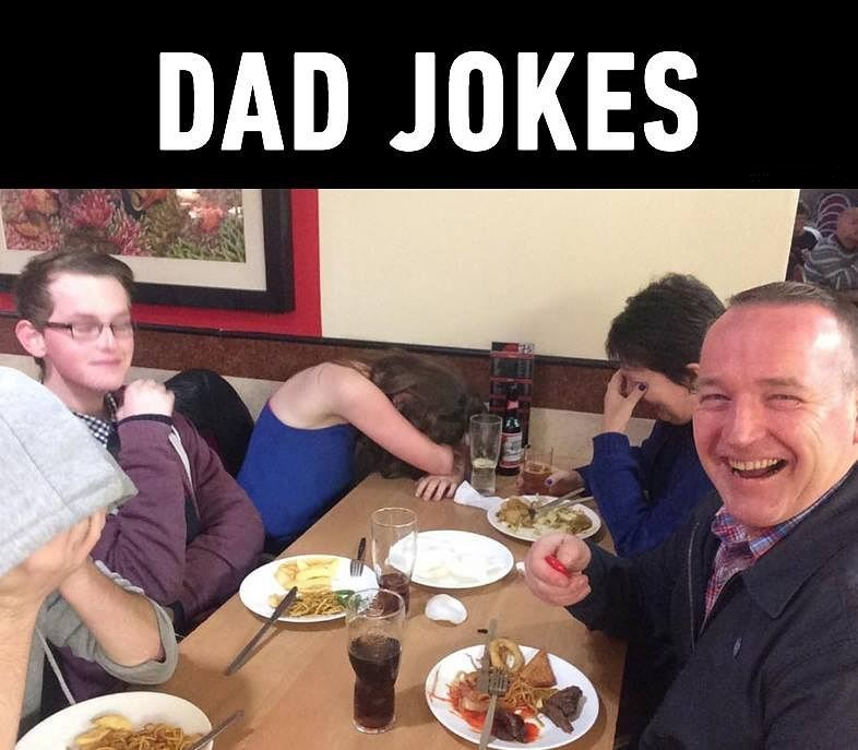 When Dad makes a joke